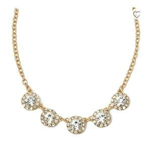"""Monet Gold Tone Crystal Accent Necklace 17-19"""""""
